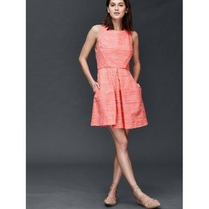 GAP / Pink Stripe Fit Flare Dress/ Size 2